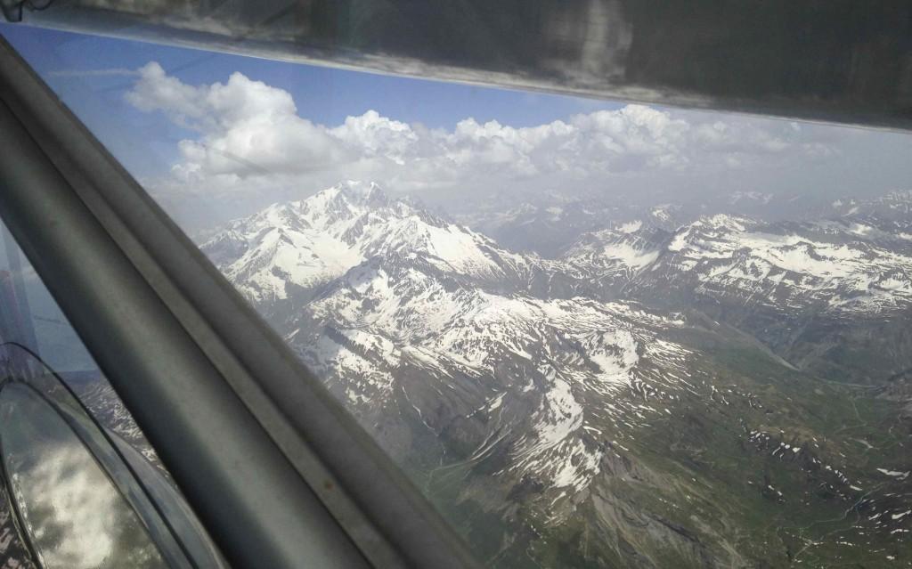 Le 9/6 approchant le Mont Blanc
