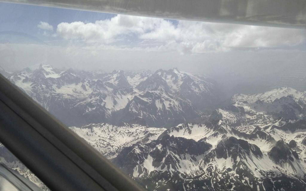 Le 8/6, l'Oisan vu de la vallée de la Maurienne à 4000 :-)