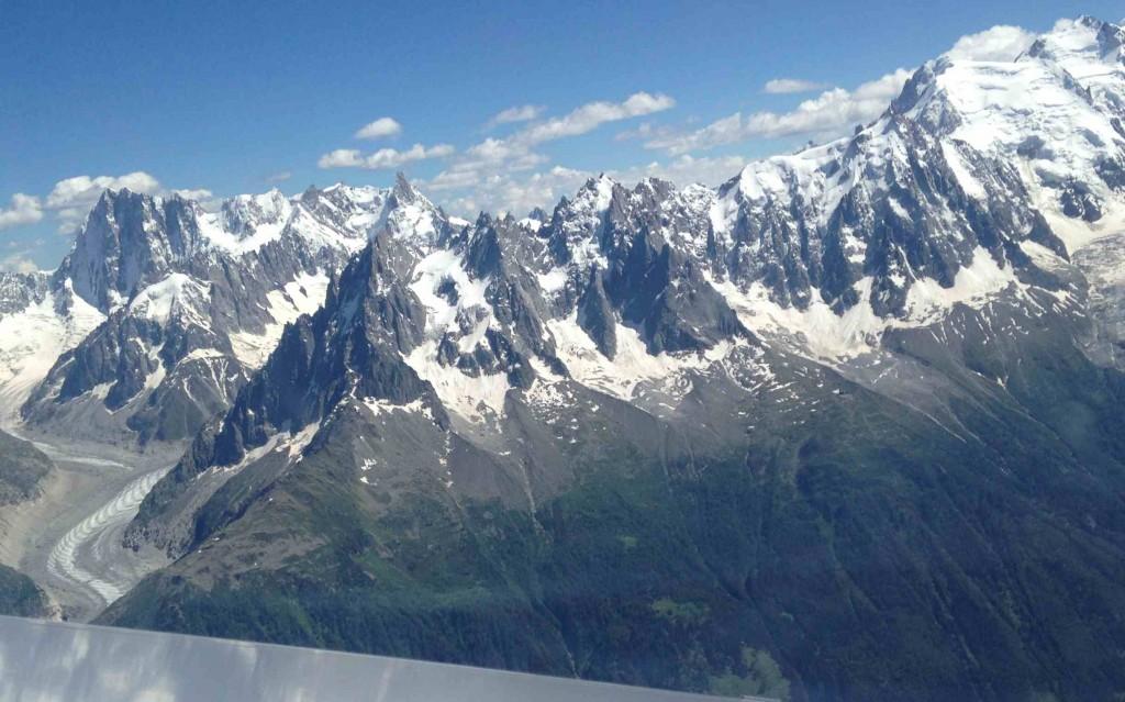 Mont Blanc, les aiguilles de Chamonix, Mer de glace, Grandes Jorasses
