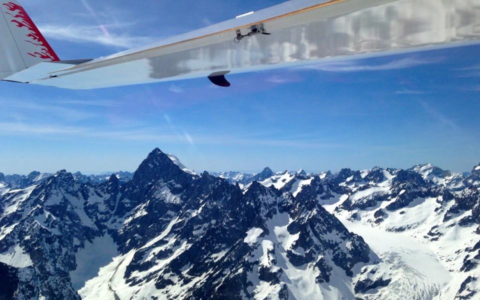 Barre des Ecrins et Glacier Blanc en thermique pur